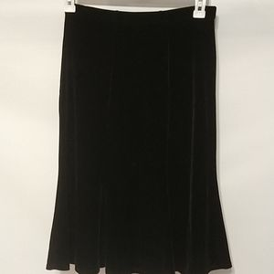Elementz black velvet flare skirt sz small